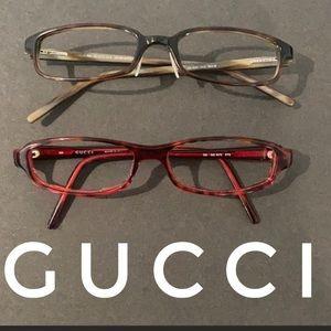 Lot of 2 Auth Gucci prescription eyeglasses frames